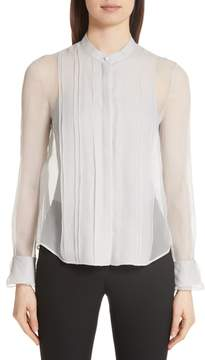Emporio Armani Crinkle Layered Silk Shirt