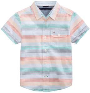 Tommy Hilfiger Tyler Striped Cotton Shirt, Toddler Boys