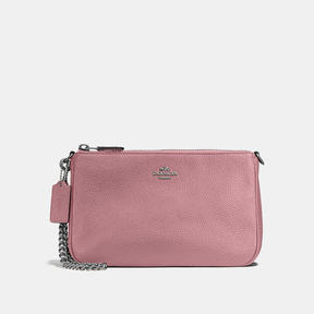 COACH Coach Nolita Wristlet 22 - DARK GUNMETAL/DUSTY ROSE - STYLE