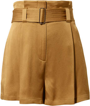A.L.C. Deliah Belted Satin Shorts