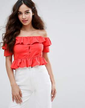 Fashion Union Off The Shoulder Crop Top