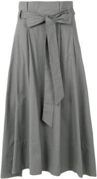Eleventy belted midi skirt