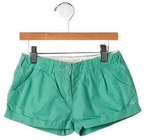 Petit Bateau Girls' Cuffed Shorts