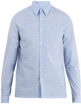 Prada Point-collar checked cotton shirt