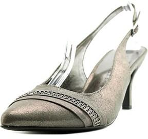 Karen Scott Ginaa Pointed Toe Canvas Slingback Heel.