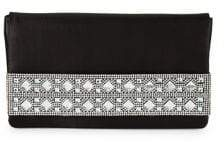 Nina Edie Crystal Satin Clutch