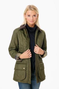 Barbour Olive Beadnell Polarquilt Jacket