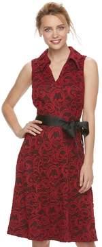 Elle Women's ElleTM Lace Shirt Dress