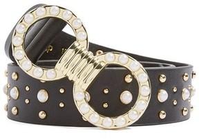 Topshop Women's Imitation Pearl Stud Belt