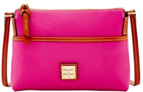 Dooney & Bourke Pebble Grain Ginger Pouchette Shoulder Bag - MAGENTA - STYLE
