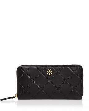 Tory Burch Georgia Zip Continental Wallet - BLACK/GOLD - STYLE