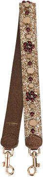 Dolce & Gabbana embellished bag strap - METALLIC - STYLE