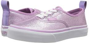 Vans Kids Authentic Elastic Lace Lilac) Girl's Shoes
