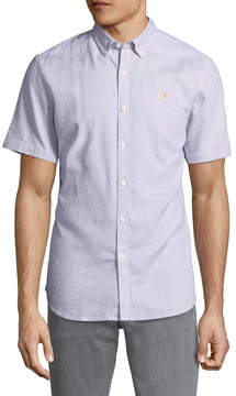 Farah Men's Beacroft Cotton Button-Down Sportshirt