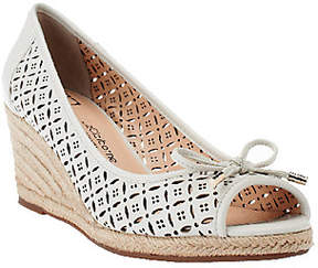 Liz Claiborne New York Perforated Wedges withBow Detail