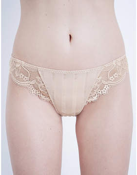 Simone Perele Amour jersey and stretch-lace tanga briefs