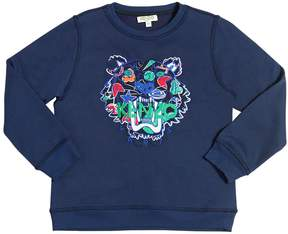 Kenzo Embroidered Tiger Wool Blend Sweatshirt