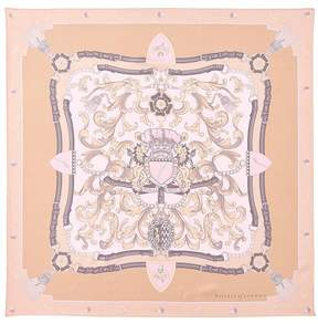 Aspinal of London Signature Shield Silk Scarf In Nude