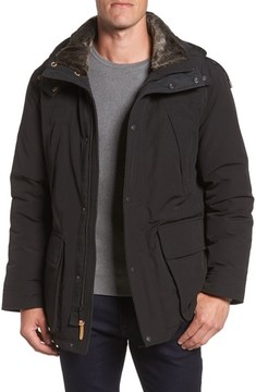 Cole Haan Men's Faux Fur Trim Down Utility Parka