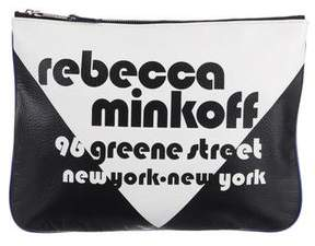 Rebecca Minkoff Grained Leather Clutch - BLACK - STYLE