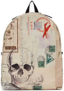 Alexander McQueen Ivory Letters From India Backpack