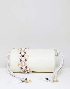 Asos DESIGN Macrame Cylinder Cross Body Bag