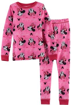 Cuddl Duds Disney's Minnie Mouse Toddler Girl 2-pc.Thermal Base Layer Top & Pants Set by