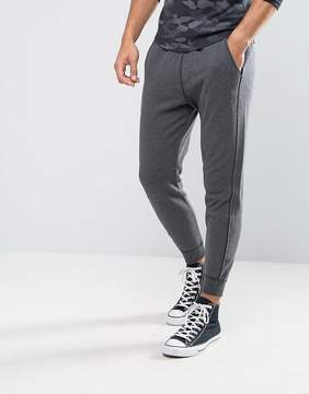 Hollister Cuffed Joggers Skinny Fit Icon Logo in Dark Gray
