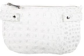 Rebecca Minkoff Embossed Leather Pouch - WHITE - STYLE