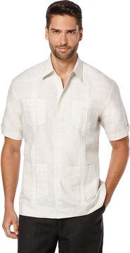 Cubavera Short Sleeve Linen Front Insert Guayabera