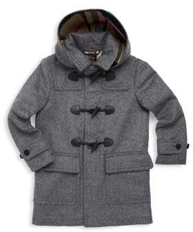Burberry Little Boy's & Boy's Hooded Wool Duffle Coat