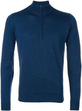 John Smedley zip-neck jumper