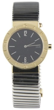 Bulgari 18K Yellow Gold & Stainless Steel Quartz With Date BB 33 GSCD 33mm Watch