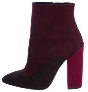 Giambattista Valli Pointed-Toe Suede Ankle Boots w/ Tags