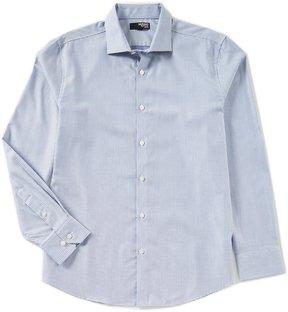 Murano Slim-Fit Liquid Luxury Long Sleeve Spread Collar Diamond Shirt