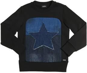 Diesel Star Patch Cotton Sweatshirt
