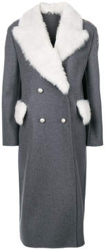 Ermanno Scervino long fur trim coat