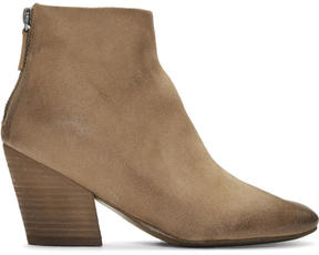 Marsèll Beige Suede Pennolina Boots