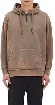 Robert Geller MEN'S BLEACH-EFFECT COTTON TERRY HOODIE