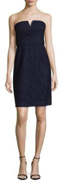 Donna Morgan Quinn Strapless Lace Mini Dress