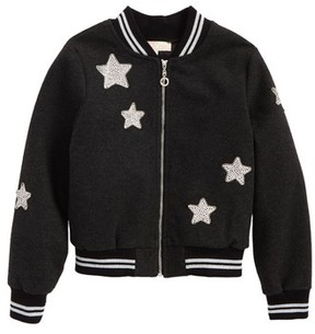Truly Me Toddler Girl's Star Patch Bomber Jacket