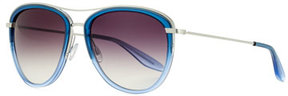 Barton Perreira Universal Fit Aviatress Aviator Sunglasses, Smolder/Blue Bayou