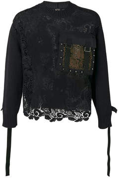 No.21 lace long-sleeve sweater