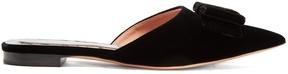Rochas Point-toe velvet slipper shoes