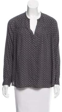 Adriano Goldschmied Printed Long Sleeve Blouse w/ Tags