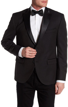 Kenneth Cole New York Black Two Button Peak Lapel Trim Fit Dinner Jacket