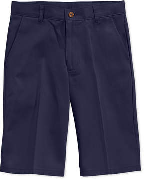 Nautica Uniform Flat Front Twill Slim Shorts, Boys