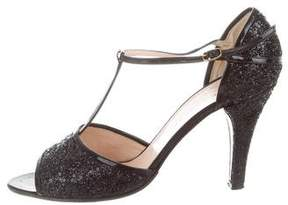 Marc by Marc Jacobs Glitter Peep-Toe Pumps