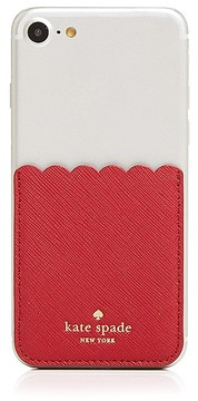 Kate Spade Scallop Pocket Metallic Adhesive Card Case - ROSSO/GOLD - STYLE