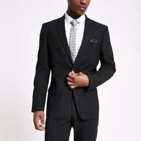 River Island Mens Black tailored suit jacket